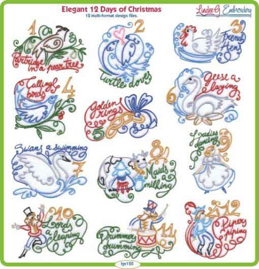 Elegant 12 Days of Christmas