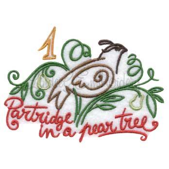 Partridge in a Pear Tree (4.6 x 3.4-in)