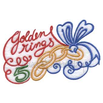 5 Golden Rings (4.5 x 2.9-in)