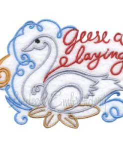 6 Geese a Laying (4.6 x 3.6-in)