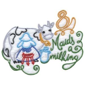 8 Maids a Milking (4.9 x 3.9-in)