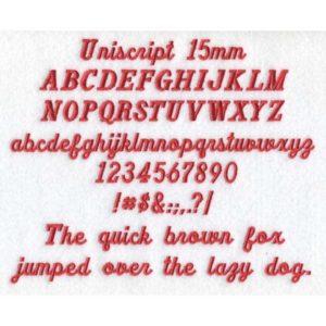 Uniscript 15mm ESA font