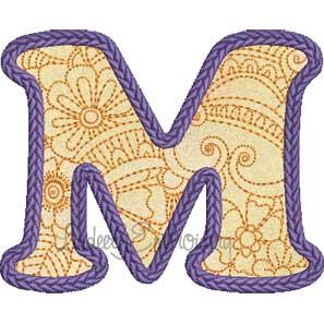 Applique Doodle Font M (4.1 x 3.4-in)