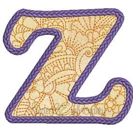 Applique Doodle Font Z (3.8 x 3.3-in)