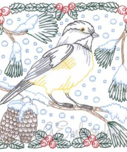 Chickadee with Snow 3