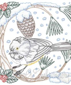 Chickadee with Snow 6