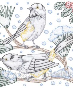 Chickadees with Snow 9