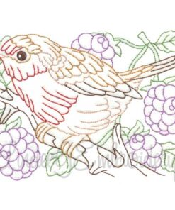 Bird with Raspberries Multicolor