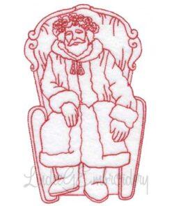 Seated Santa