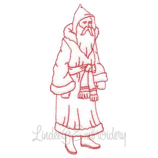 Santa in Belted Coat