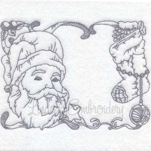 Santa with Stocking (6 sizes)