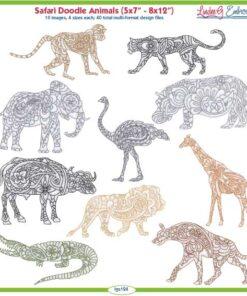 Safari Doodle Animals