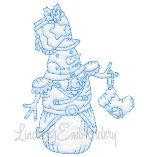 Snowman with Stocking (4 sizes)