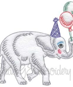 Elephant with Balloons (4 sizes)
