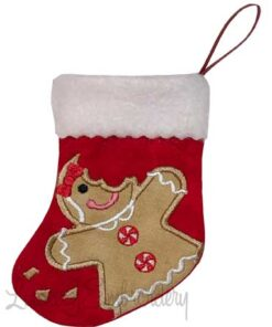 Gingergirl Bitten Stocking (4.6 x 5.9-in)