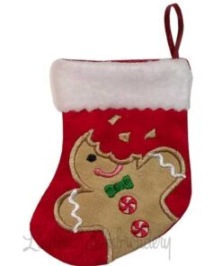 Gingerman Bitten Stocking (4.6 x 5.9-in)