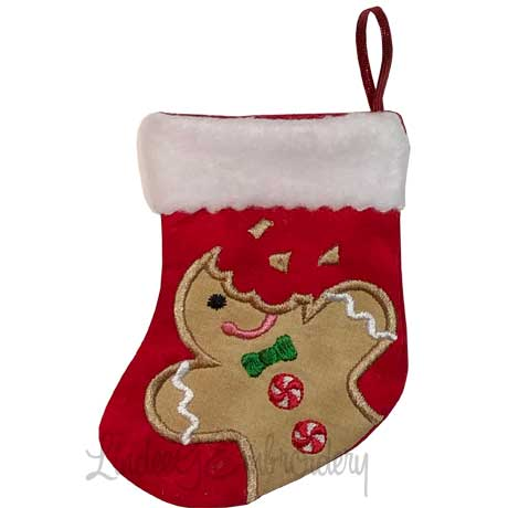 Gingerman Bitten Stocking (4.6 x 5.9-in)