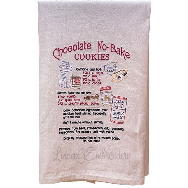 Chocolate No-Bake Cookies Recipe (7.7 x 10.3-in)