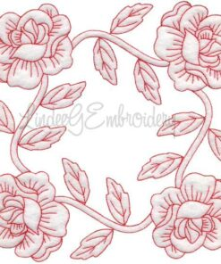 Rose Redwork (June) (6.8-in)