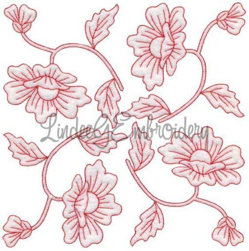 Poppy Redwork (August) (6.8-in)