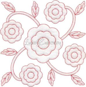 Marigold Redwork (October) (6.8-in)