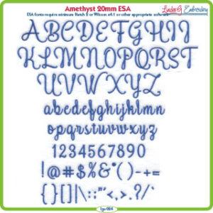 Amethyst 20mm ESA Font