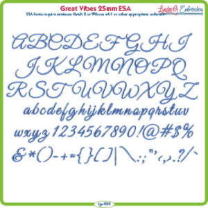 Great Vibes 25mm ESA Font