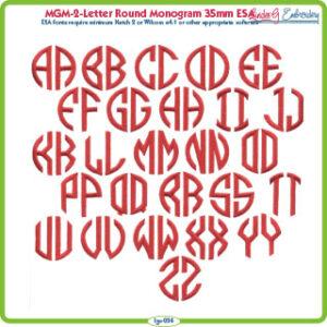 2-Letter Round Monogram 35mm