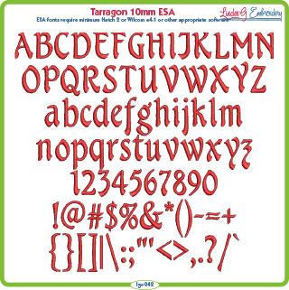 Tarragon 10mm ESA Font