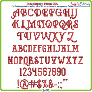 Broadstreet 10mm ESA Font