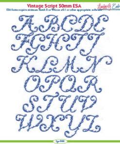 Vintage Script 50mm ESA Font