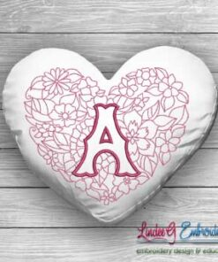 Sweetheart Monogram A - 4 sizes