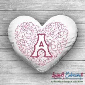 Sweetheart Monogram A - 4 sizes