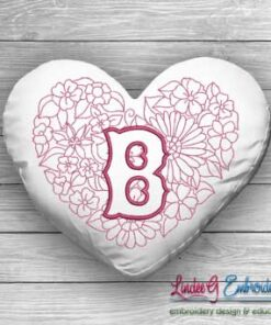 Sweetheart Monogram B - 4 sizes