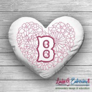 Sweetheart Monogram B - 4 sizes