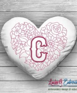 Sweetheart Monogram C - 4 sizes