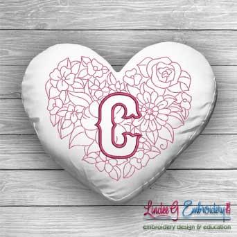 Sweetheart Monogram C - 4 sizes