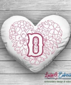 Sweetheart Monogram D - 4 sizes