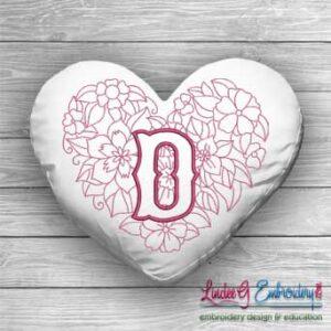 Sweetheart Monogram D - 4 sizes