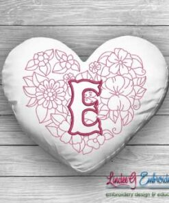 Sweetheart Monogram E - 4 sizes