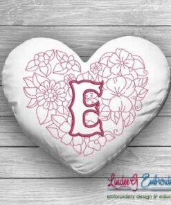 Sweetheart Monogram E - 4 sizes