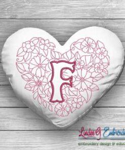 Sweetheart Monogram F - 4 sizes
