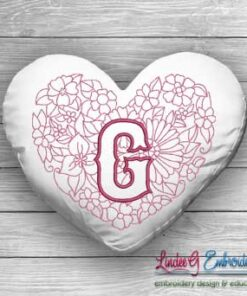Sweetheart Monogram G - 4 sizes