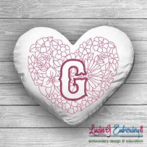 Sweetheart Monogram G - 4 sizes