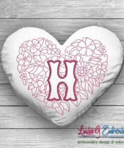 Sweetheart Monogram H - 4 sizes