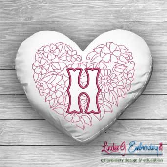Sweetheart Monogram H - 4 sizes