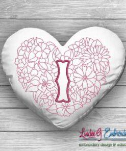 Sweetheart Monogram I - 4 sizes