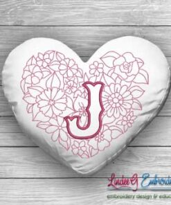 Sweetheart Monogram J - 4 sizes