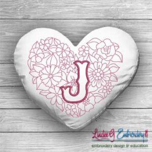 Sweetheart Monogram J - 4 sizes
