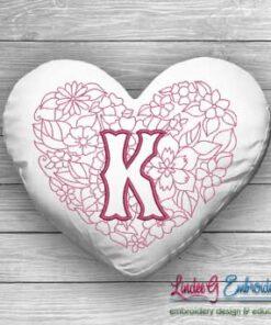 Sweetheart Monogram K - 4 sizes